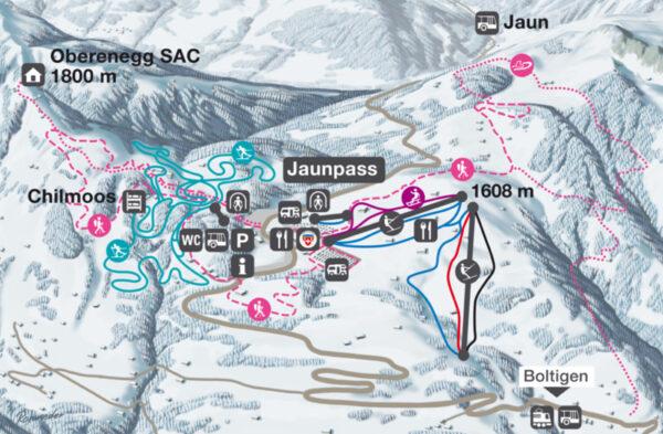 Winterkarte Jaunpass